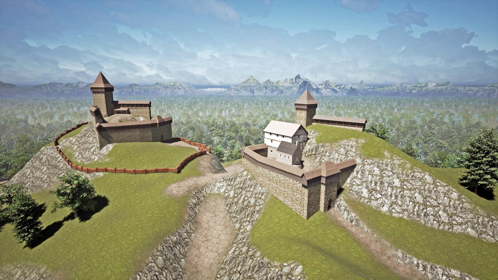 Die Visualisierung der Burg
